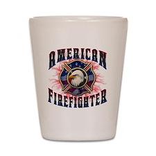 American Firefighter Lightning Shot Glass
