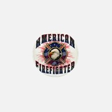 American Firefighter Lightning Mini Button