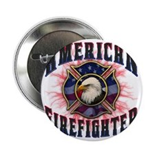 "American Firefighter Lightning 2.25"" Button"