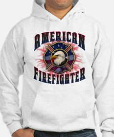 American Firefighter Lightning Hoodie Sweatshirt