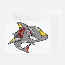 Robot Shark Greeting Card