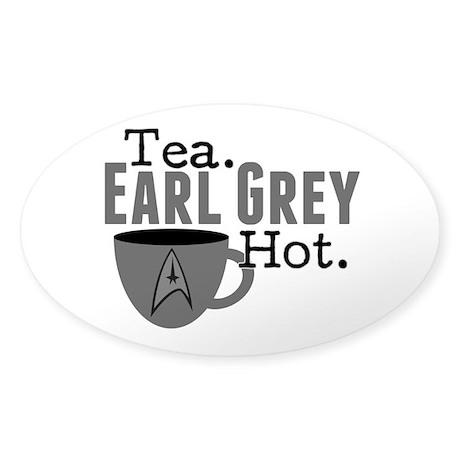 Tea Earl Grey Hot Sticker (Oval)