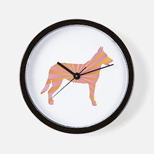 Beauceron Rays Wall Clock
