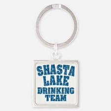 Shasta Lake Drinking Team Square Keychain