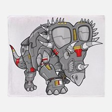 Rhino Robot Throw Blanket