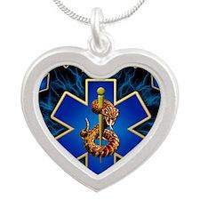 EMS Lightning Mousepad Silver Heart Necklace