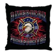 American Firefighter Lightning Mousep Throw Pillow