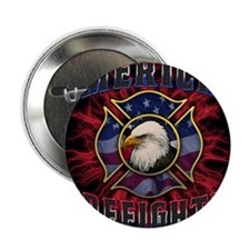 "American Firefighter Lightning Mousep 2.25"" Button"