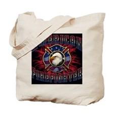 American Firefighter Lightning Mousepad Tote Bag