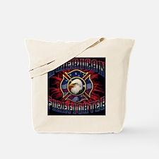 American Firefighter Lightning Mousepad Tote Bag