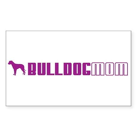 A Bulldog Mom 2 Rectangle Sticker