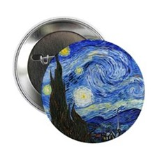 "Van Gogh 2.25"" Button"