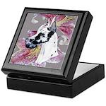 Feminine Harlequin Great Dane Keepsake Box