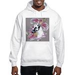 Feminine Harlequin Great Dane Hooded Sweatshirt