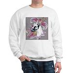 Feminine Harlequin Great Dane Sweatshirt