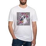 Feminine Harlequin Great Dane Fitted T-Shirt
