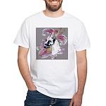 Feminine Harlequin Great Dane White T-Shirt