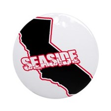 Seaside, Ca -- T-Shirt Round Ornament