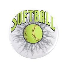 "Softball 3.5"" Button"