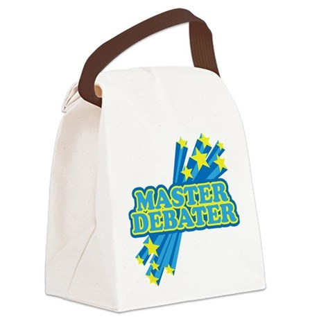 Master Debater Canvas Lunch Bag
