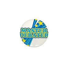 Master Debater Mini Button