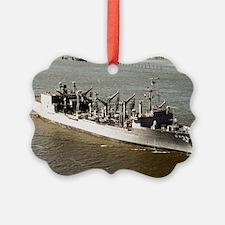 uss kansas city framed panel prin Ornament