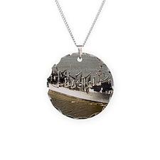 uss kansas city framed panel Necklace