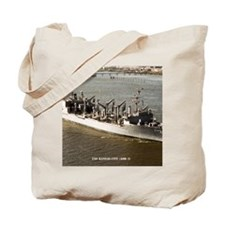 uss kansas city framed panel print Tote Bag