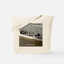 uss kansas city framed panel print Tote Bag
