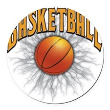 Basketball Round Car Magnet