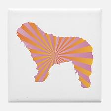 Bergamasco Rays Tile Coaster