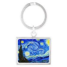 Laptop Van Gogh Landscape Keychain