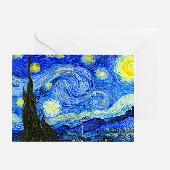 Laptop Van Gogh Greeting Card
