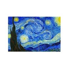 Laptop Van Gogh Rectangle Magnet