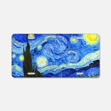 Laptop Van Gogh Aluminum License Plate