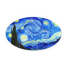 Laptop Van Gogh Oval Car Magnet