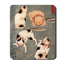 Japanese Cats Mousepad