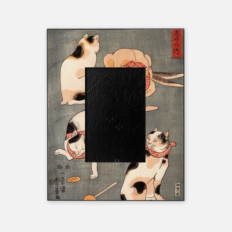 Japanese Cats Picture Frame