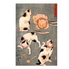 Japanese Cats Postcards (Package of 8)