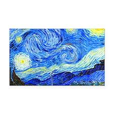 Van Gogh Rectangle Car Magnet