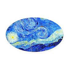 Van Gogh Oval Car Magnet