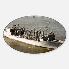 uss kansas city large framed print Decal
