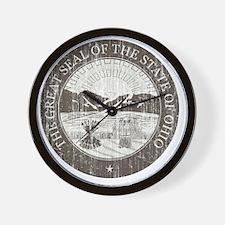 Vintage Ohio Seal Wall Clock