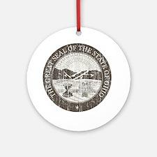Vintage Ohio Seal Round Ornament