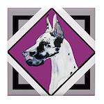 Harlequin Great Dane design Tile Coaster