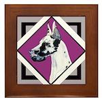 Harlequin Great Dane design Framed Tile