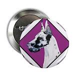 Harlequin Great Dane design Button