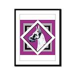 Harlequin Great Dane design Framed Panel Print