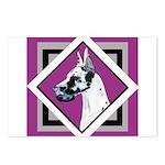 Harlequin Great Dane design Postcards (Package of
