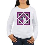 Harlequin Great Dane design Women's Long Sleeve T-